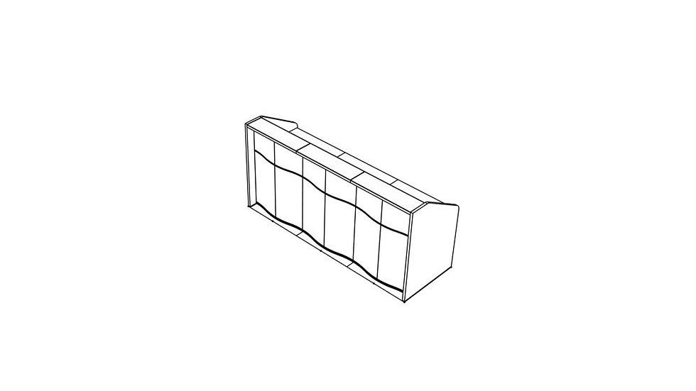 """WAVE Reception Desk LUV15 - 90 6/8"""""""