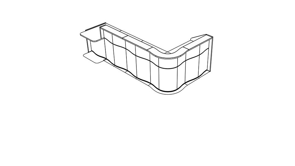 """WAVE Reception Desk LUV461P - 139 6/8"""""""