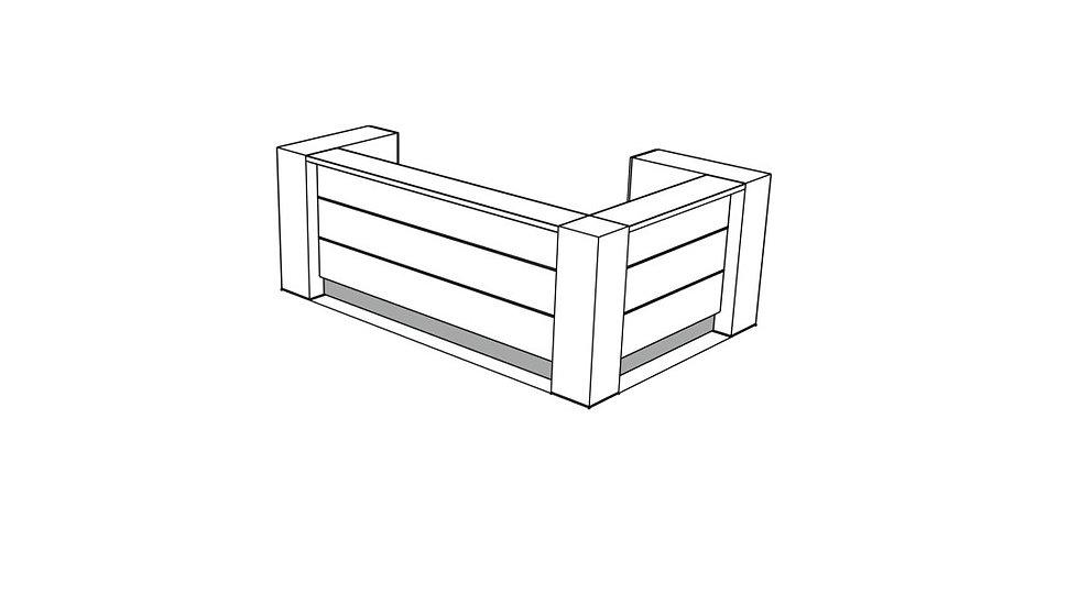 VALDE Reception Desk LAV12L