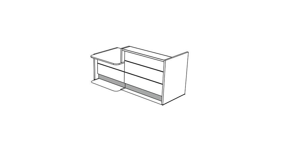 """VALDE Reception Desk LAV20L - 93 1/8"""""""