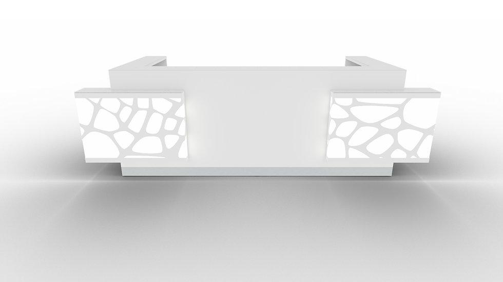 "ORGANIC Reception Desk LOG23G - 133 7/8"" Length"