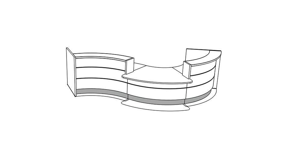 """VALDE Reception Desk LAV35L - 165 1/8"""""""