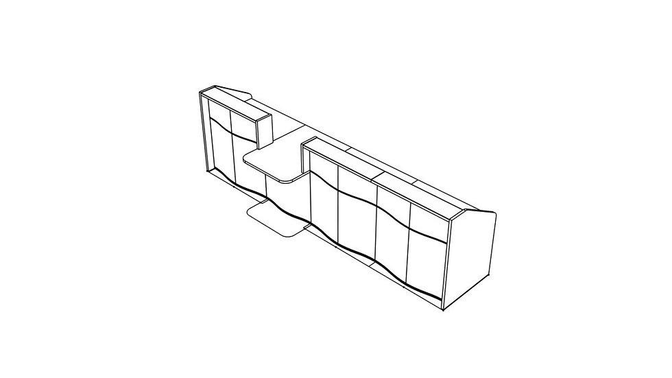 """WAVE Reception Desk LUV321 - 147 1/8"""""""