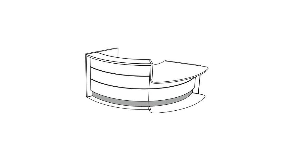 """VALDE Reception Desk LAV30L - 115"""""""
