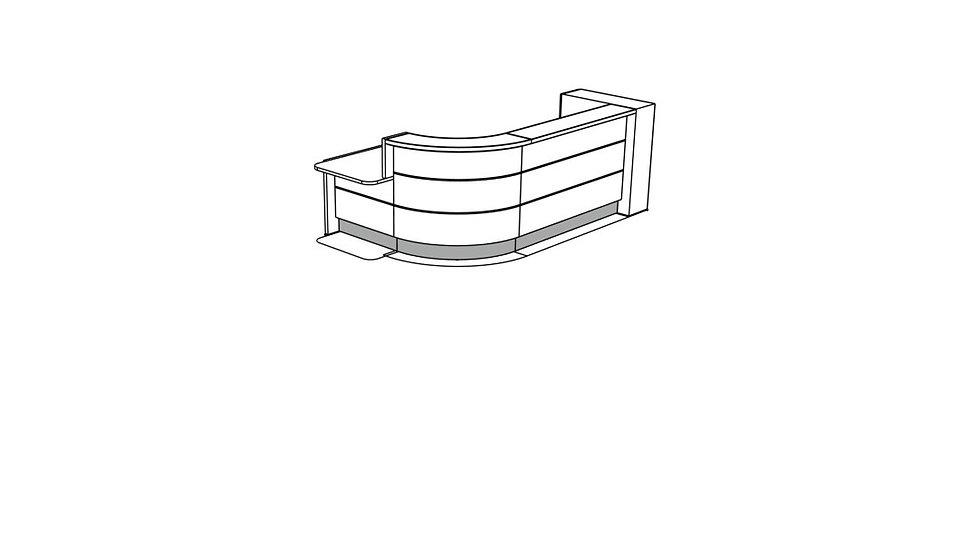 VALDE Reception Desk LAV1571L