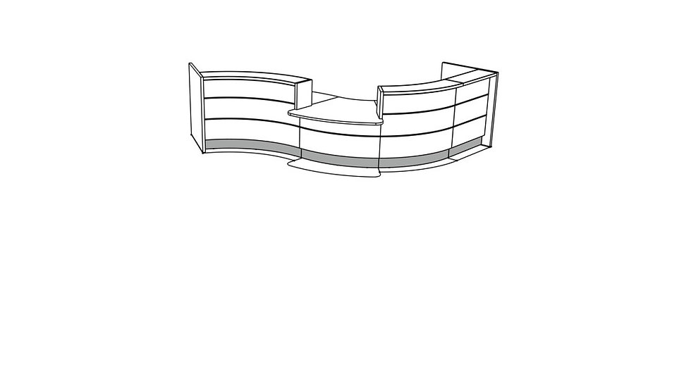 VALDE Reception Desk LAV165L