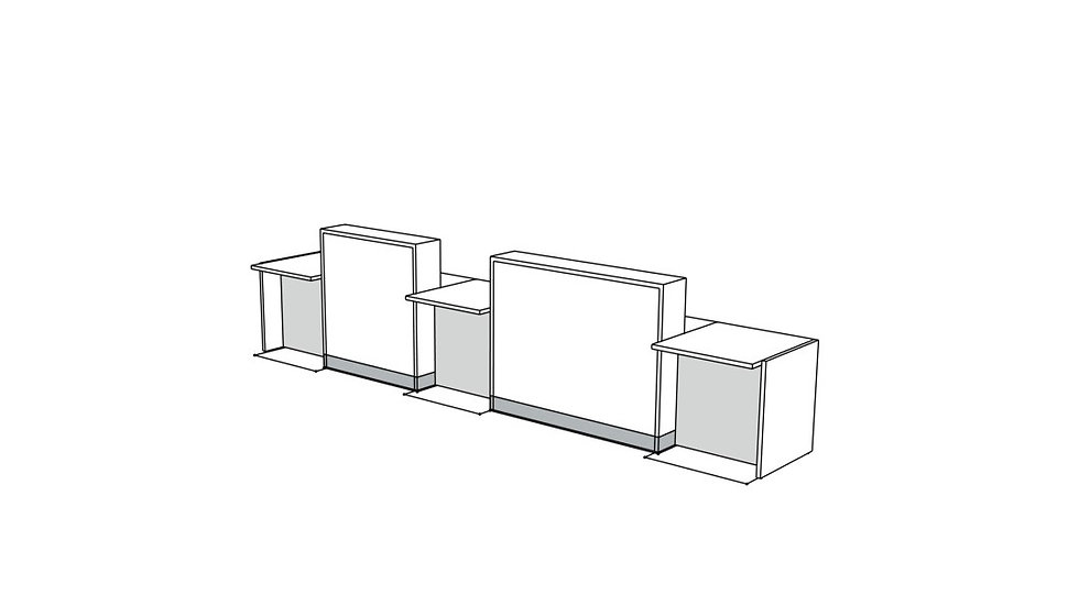 "ORGANIC Reception Desk LOG25 - 179 3/8"""