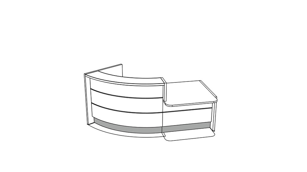VALDE Reception Desk LAV85L - 96 1/8""