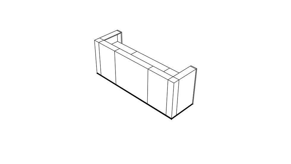 """TERA Reception Desk TRA123 - 111 6/8"""""""