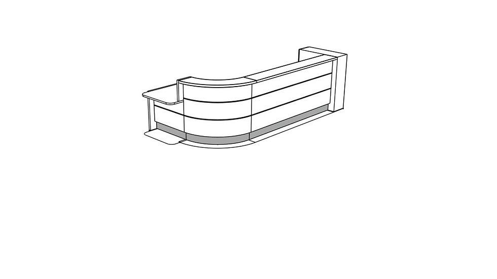 VALDE Reception Desk LAV1591L