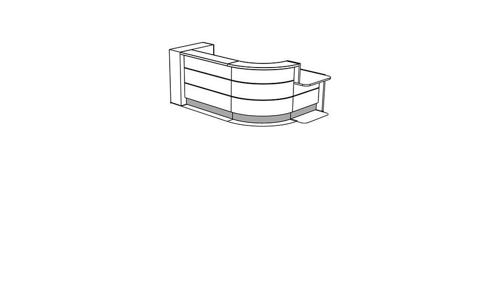 VALDE Reception Desk LAV1561L