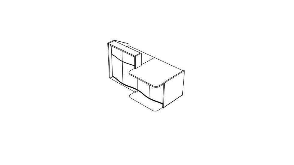 "WAVE Reception Desk LUV28L - 75 5/8"""