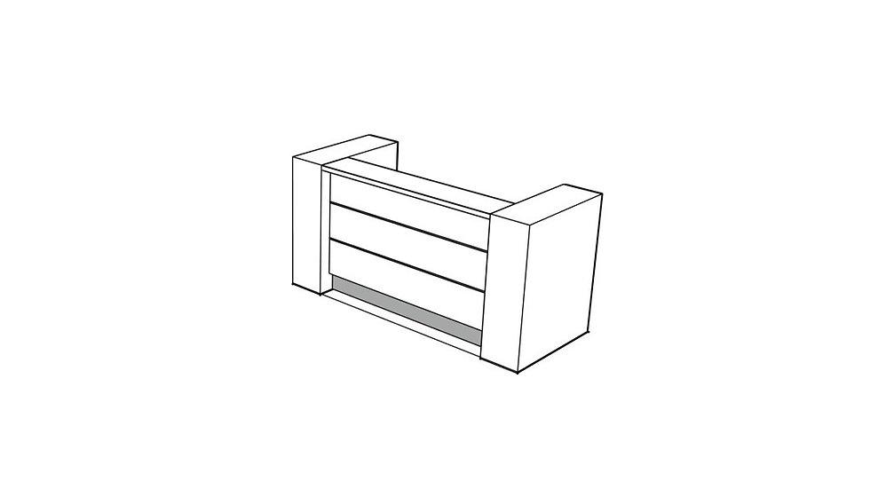"""VALDE Reception Desk LAV02L - 87 5/8"""""""