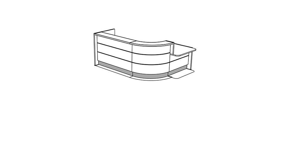 VALDE Reception Desk LAV143L
