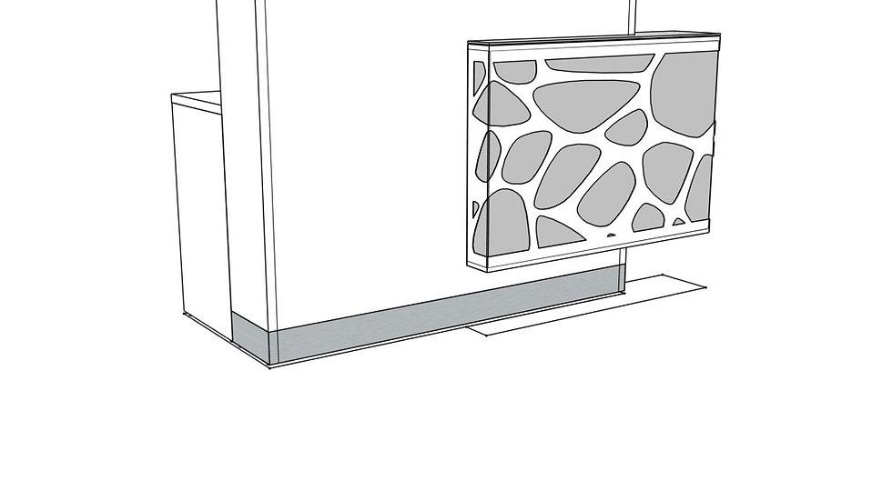 "ORGANIC Reception Desk LOG12LG - 66 7/8"" Length (Right facing)"