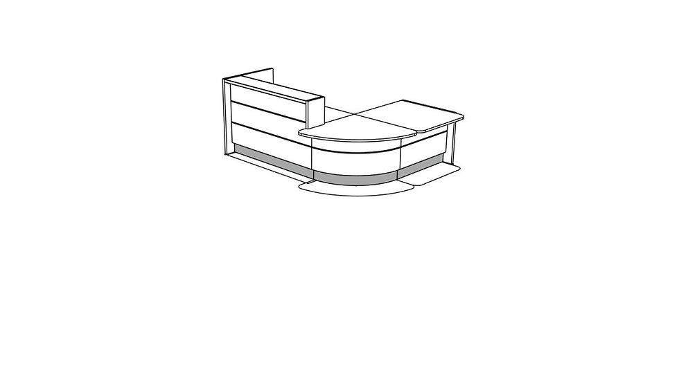 VALDE Reception Desk LAV113L