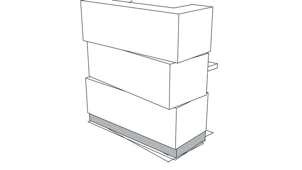 "ZEN Reception Desk LZE10 - 44 5/8"""