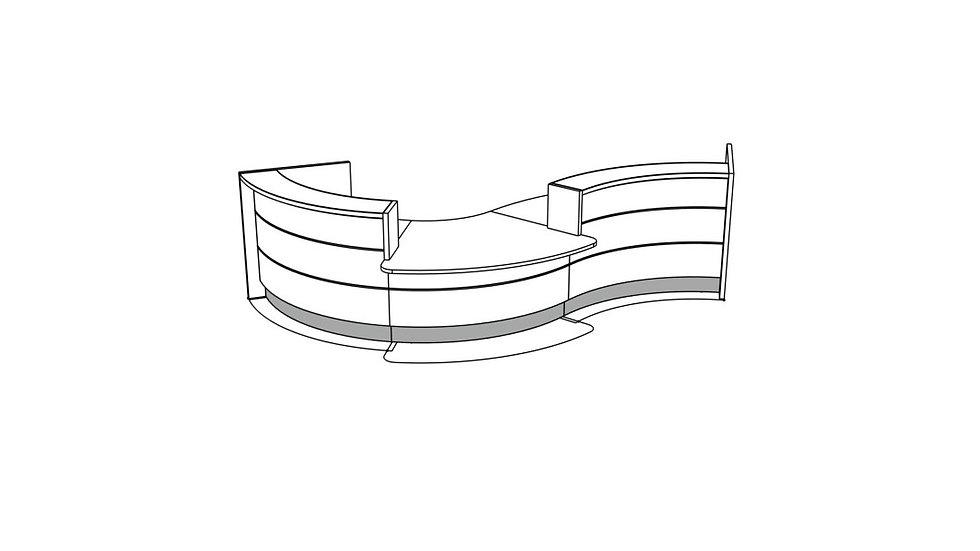 """VALDE Reception Desk LAV34L - 165 1/8"""""""