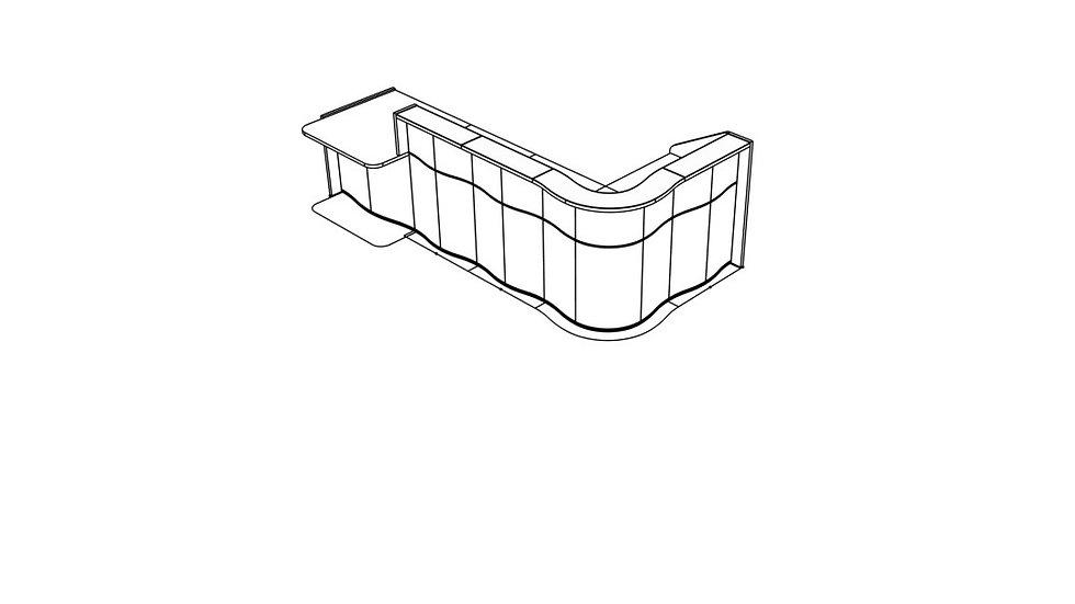 """WAVE Reception Desk LUV45P - 130 3/8"""""""