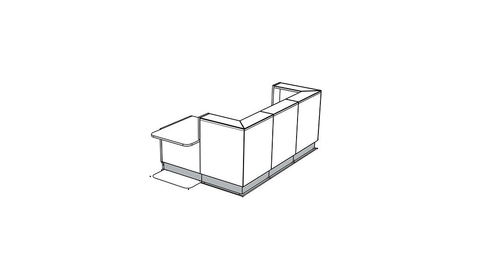 """LINEA Reception Desk LIN411P -  108"""""""