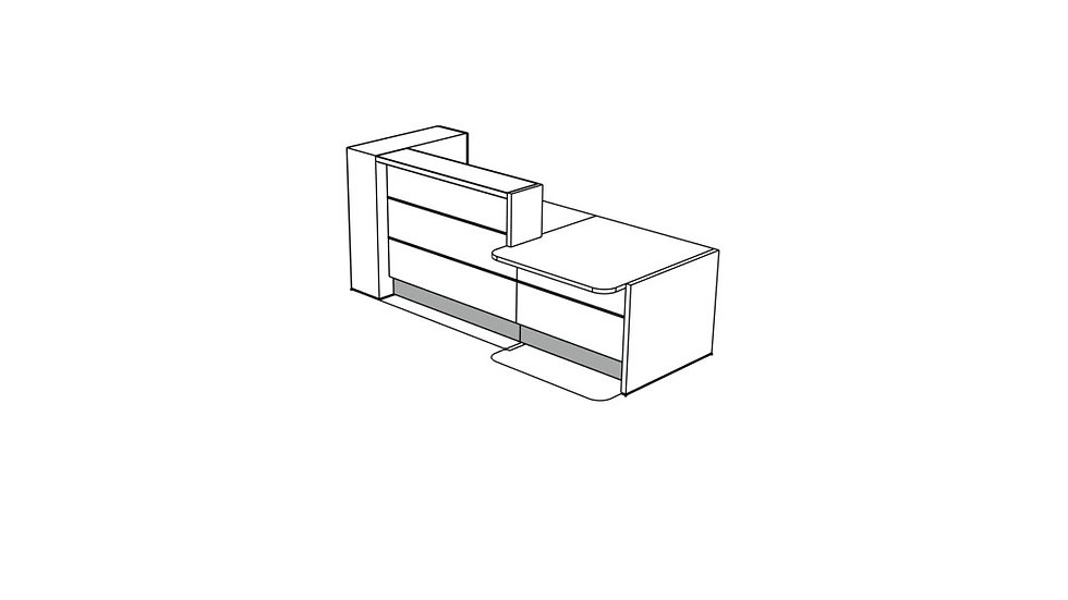 """VALDE Reception Desk LAV41L - 104 1/8"""""""