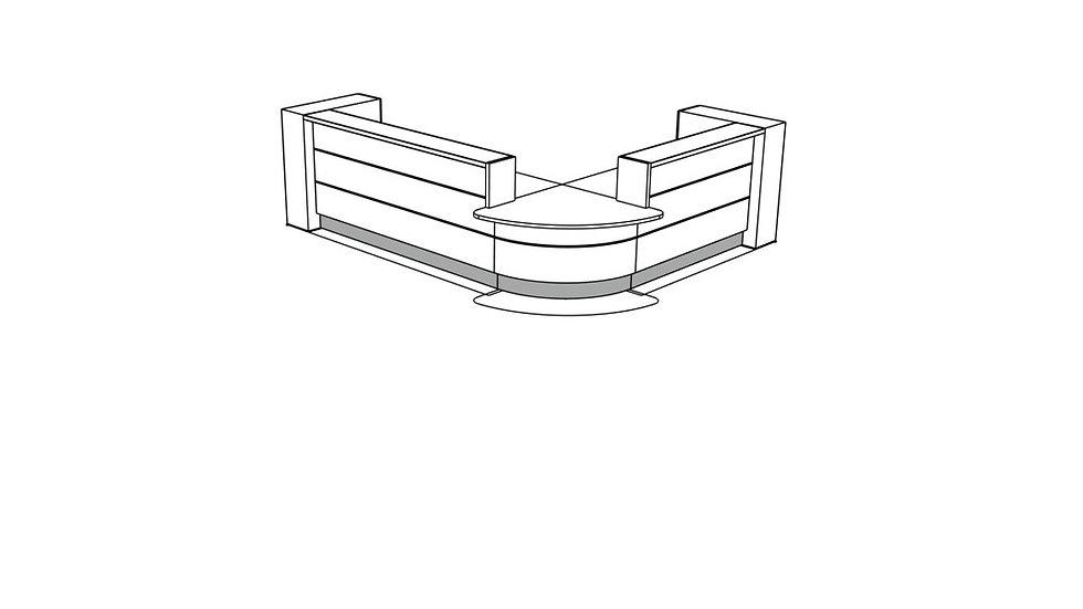 VALDE Reception Desk LAV123L