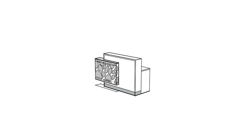 "ORGANIC Reception Desk LOG12PG - 66 7/8"""