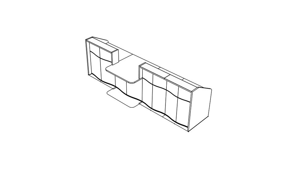 """WAVE Reception Desk LUV33 - 137 5/8"""""""