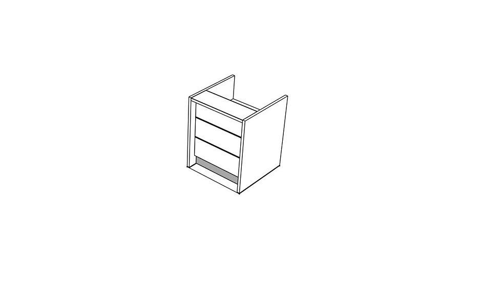 """VALDE Reception Desk LAV95L - 36 2/8"""""""