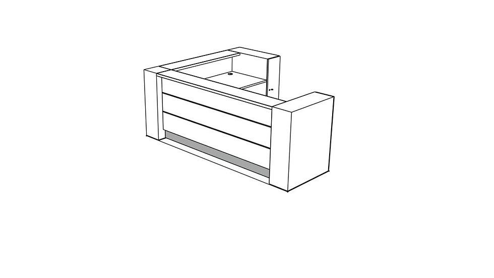 VALDE Reception Desk LAV17L
