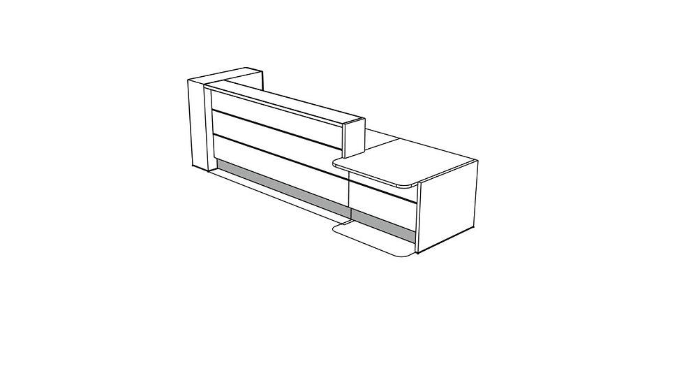 """VALDE Reception Desk LAV45L - 143 4/8"""""""