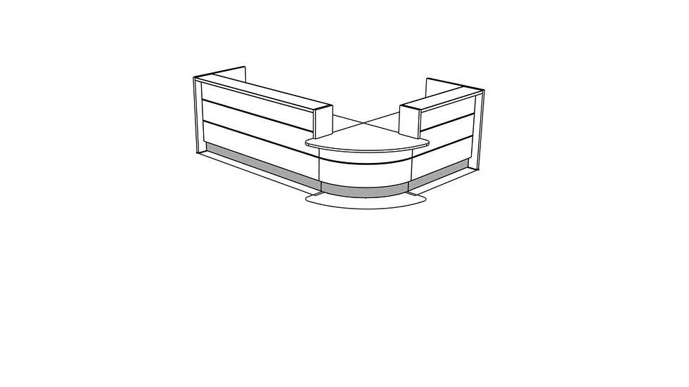 VALDE Reception Desk LAV107L