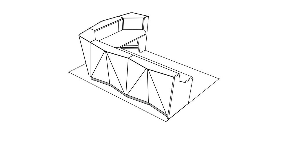 """ALPA Reception Desk ALP17P -  123 3/8"""""""