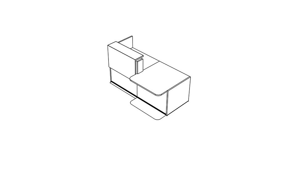 "TERA Reception Desk TRA36P - Low/High 81"""