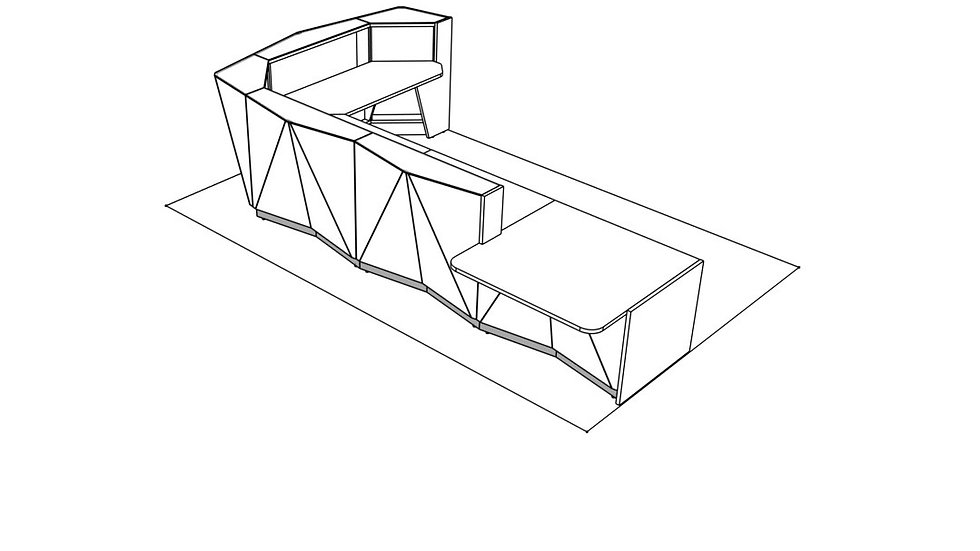 "ALPA Reception Desk ALP26L -  170 5/8"""