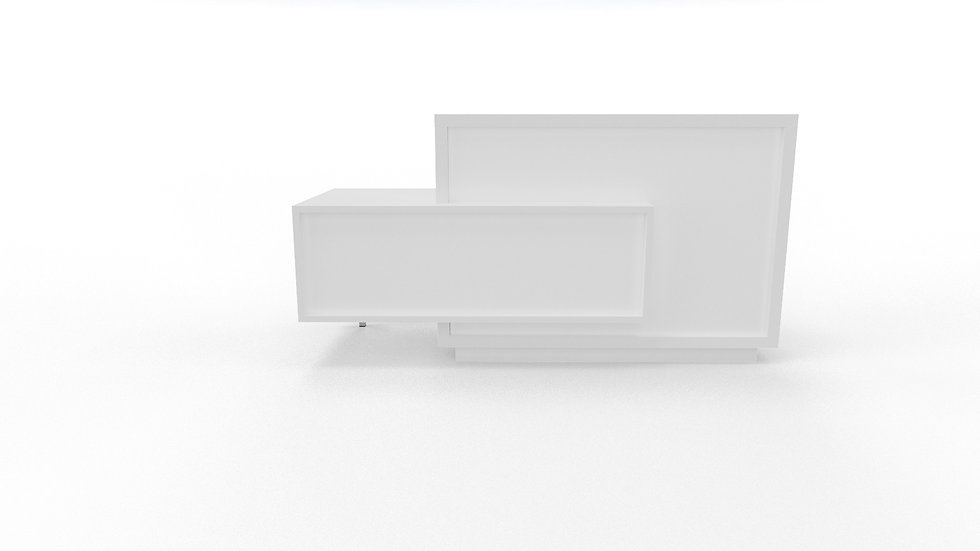 FORO Reception Desk LF11 - White Frame