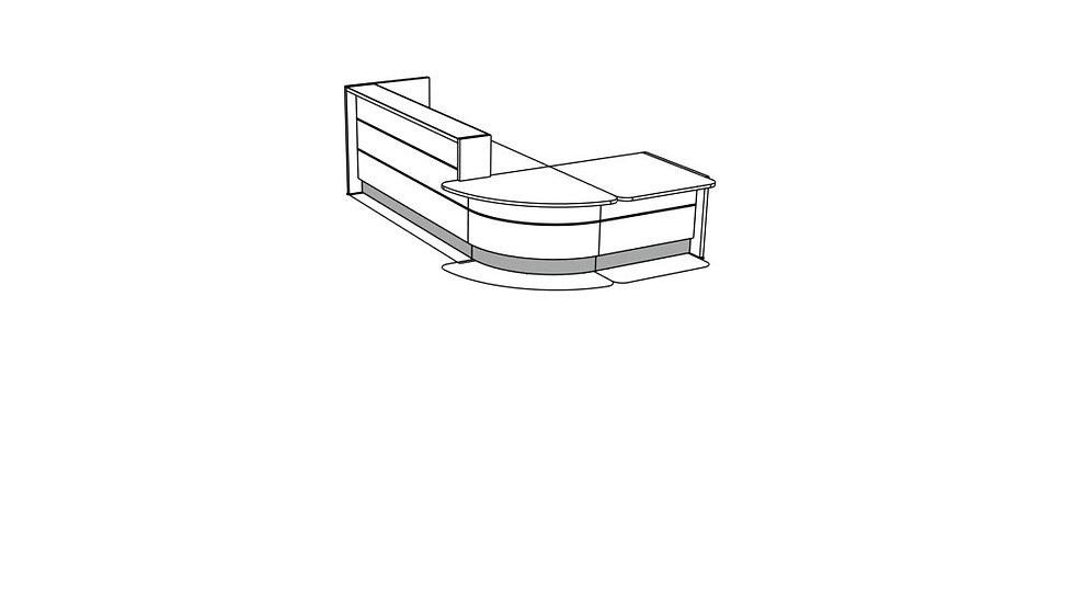 VALDE Reception Desk LAV115L