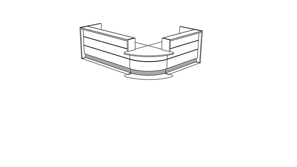 VALDE Reception Desk LAV108L