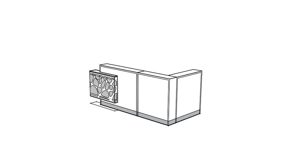 "ORGANIC Reception Desk LOG21PG - 106 2/8"""