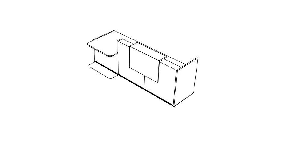 "TERA Reception Desk TRA39L - Low/High 120 3/8"""