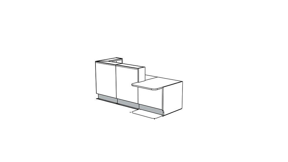 "LINEA Reception Desk LIN351L - 96 4/8"""