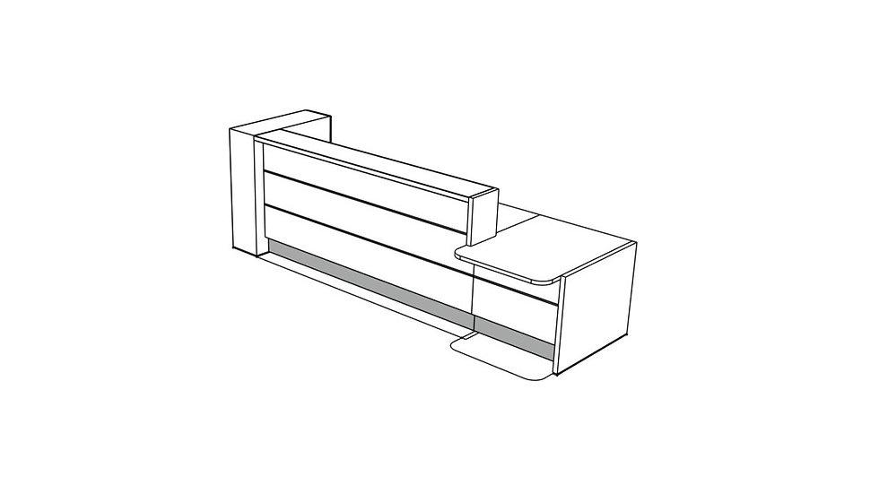 """VALDE Reception Desk LAV451L - 135 5/8"""""""