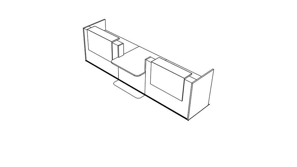 """TERA Reception Desk TRA35 - 151 6/8"""" Length"""