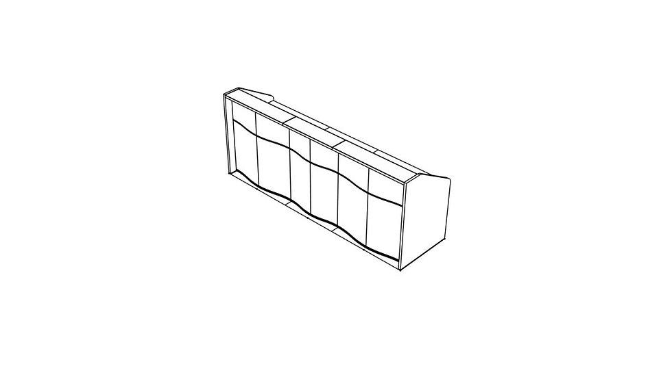 """WAVE Reception Desk LUV17 - 108 1/8"""""""