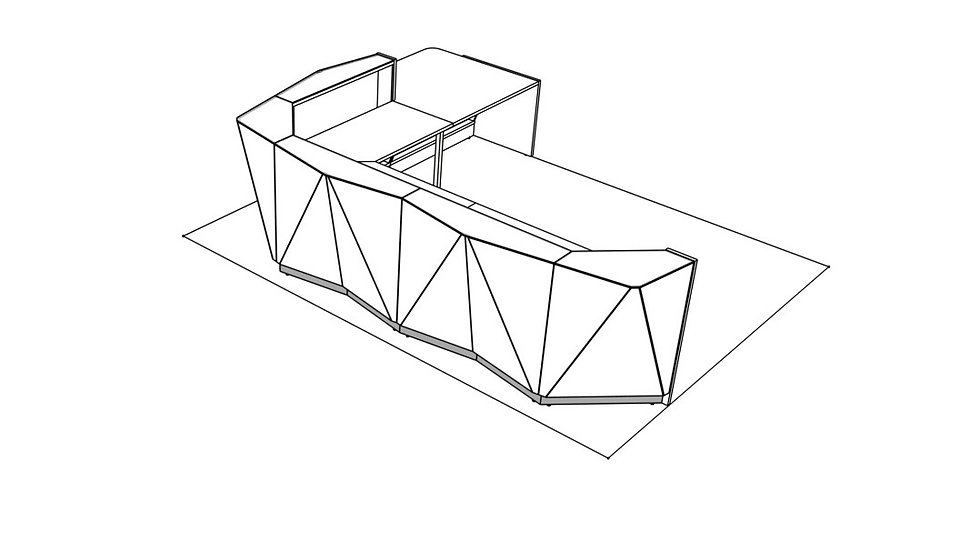 """ALPA Reception Desk ALP24P -  156 1/8"""""""