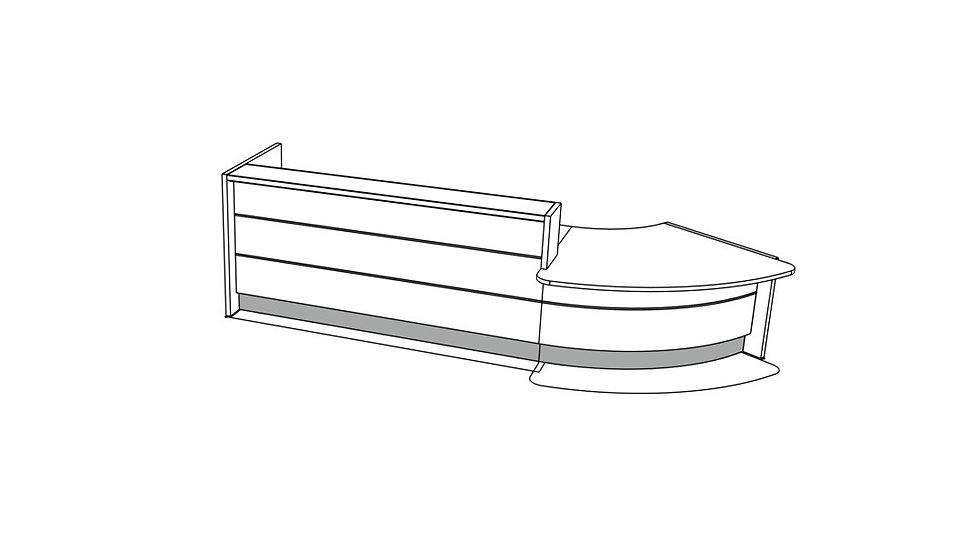 """VALDE Reception Desk LAV94L - 151 3/8"""""""