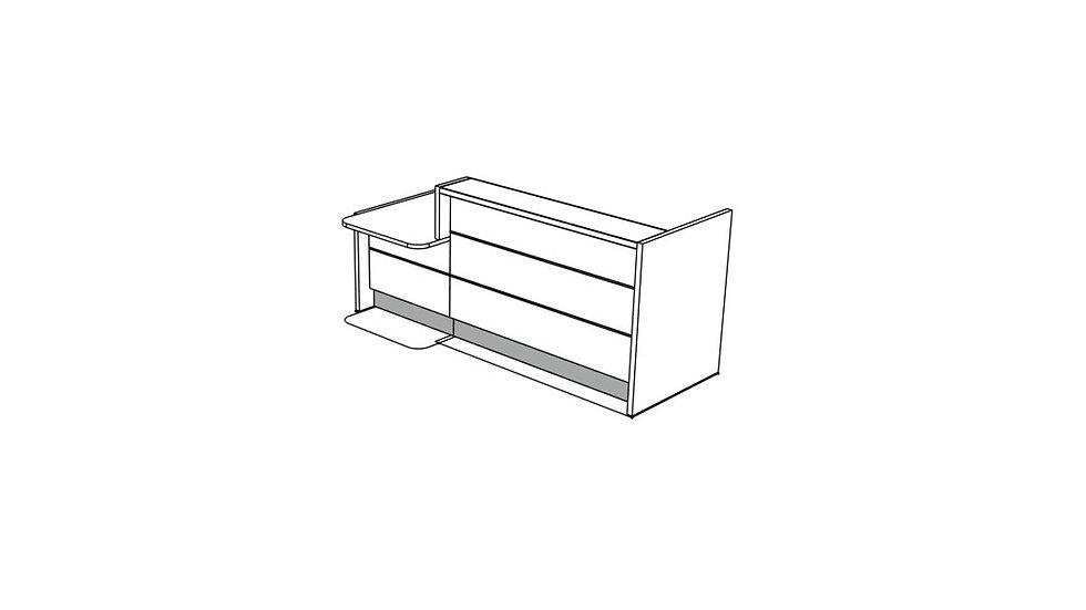 """VALDE Reception Desk LAV221L - 97 1/8"""""""