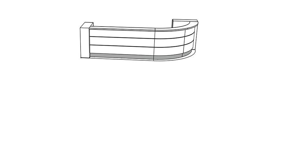 """VALDE Reception Desk LAV59L - 165 5/8"""""""