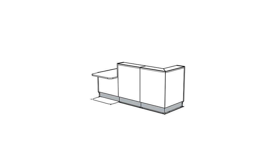 """LINEA Reception Desk LIN351P - 96 4/8"""""""