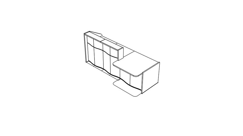 "WAVE Reception Desk LUV29L - 99 4/8"""